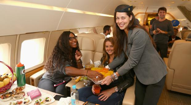 Gravy plane: Serena Williams is taking her status a little too far by making her rivals dish out the Barley Water