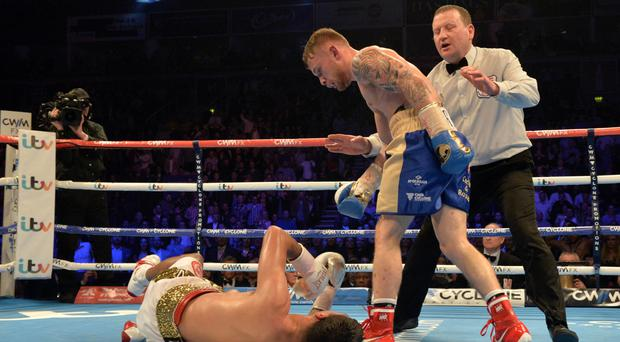Breaking bad: Carl Frampton urges Chris Avalos to get up so he doesn't miss out on some sensational Suzuki Swift deals