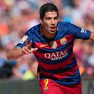 On the mark: Barca's Luis Suarez