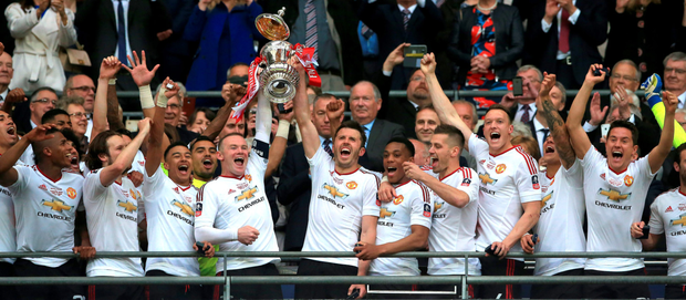 Men united: Who needs a Champions League place when you can get a big shiny cup and a new manager all at the same time?