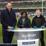 Slamtastic: ITV's Martin Bayfield, Maggie Alphonsi, Gordon D'Arcy, Lawrence Dallaglio and the Six Nations Trophy. Only one will be staying in Ireland