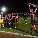 Crues control: Crusaders were worthy winners of the Co Antrim Shield breaking a few Sky Blue hearts
