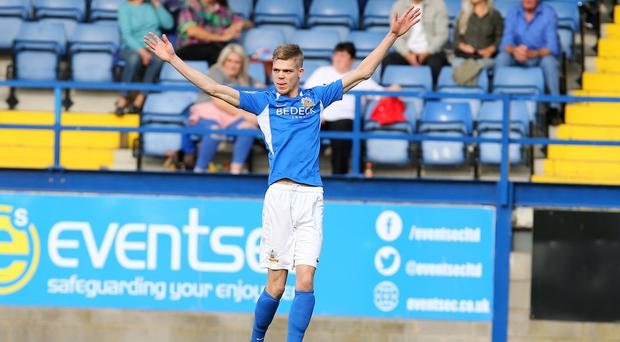 Midfield general: Glenavon's Rhys Marshall has impressed since moving up the pitch