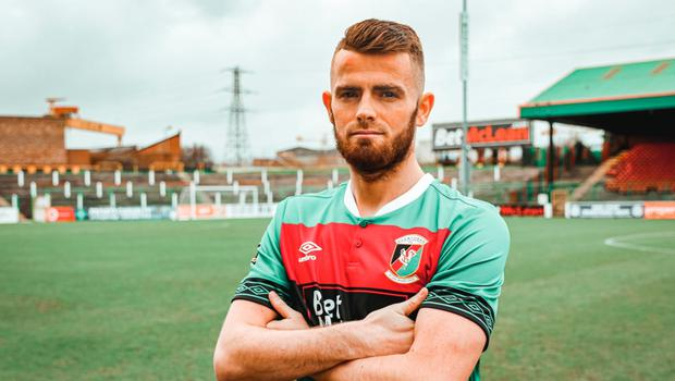 New start: Ruaidhri Donnelly has moved across town to Glentoran