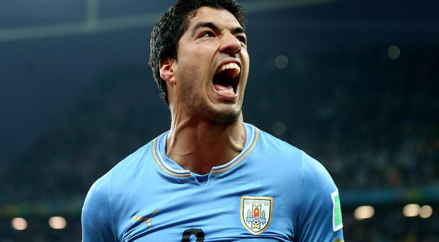 File photo dated 19/06/2014 of Uruguay's Luis Suarez. RESS ASSOCIATION Photo. Issue date: Monday June 30, 2014. Luis Suarez has issued a statement on Twitter, apologising to Giorgio Chiellini and the