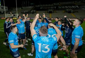 Deja-vu: Dublin celebrate winning their sixth straight All-Ireland title