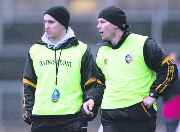Tony McEntee (left) and Gareth O'Neill