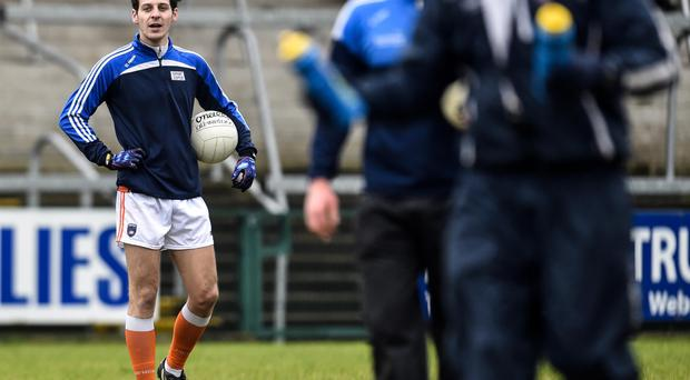 New role: Armagh's Jamie Clarke was deployed at half-back