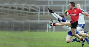 Heat is on: Mark Poland's skills warmed the heart as his Down side beat Armagh at a freezing Athletic Grounds