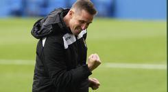 Crest of a wave: Stephen Baxter's side are leading the title charge
