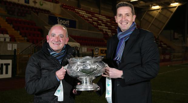 Changed times: Tommy Breslin and Stephen Baxter have brought remarkable success to north-Belfast