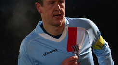 Final stage: Ballymena United skipper Allan Jenkins feared he would be ruled out of the League Cup decider