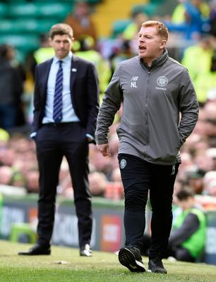 Narrowing the gap: Steven Gerrard's Rangers are closing in on Neil Lennon and Celtic... but at what cost?