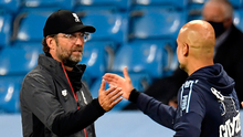 Who's the real winner? Jurgen Klopp and Pep Guardiola at the end of last week's encounter at The Etihad