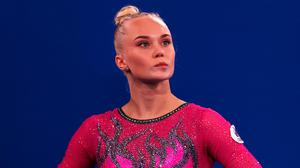 Golden girl: Angelina Melnikova is one of the new breed of ultra-clean Russian competitors who, technically, represent the 'ROC'. Credit: Jamie Squire/Getty Images