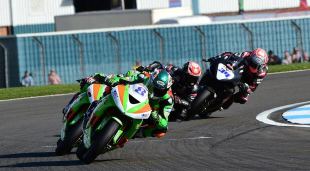 Out in front: rising star Andrew Irwin in Supersport action