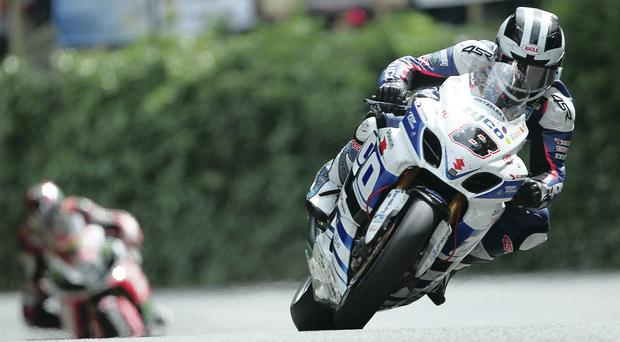 Tough luck: William Dunlop suffered a double break to his left fibula after a crash during the Isle of Man TT