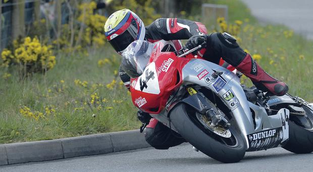 Injury niggles: Jamie Hamilton sees a specialist today after his crash at Skerries
