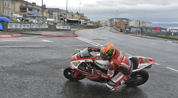 North star: Josh Brookes in action at the NW200 in May