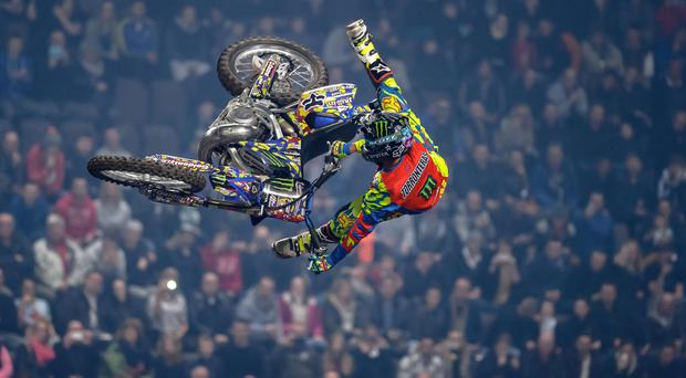 Hitting the heights: Edgar Torronteras thrilled the Odyssey Arena last year with his breath-taking FMX skills