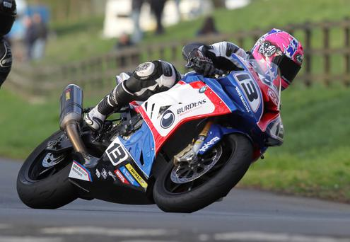 Stepping up: Lee Johnston will take on the Superbike and Supersport classes this year at the North West 200