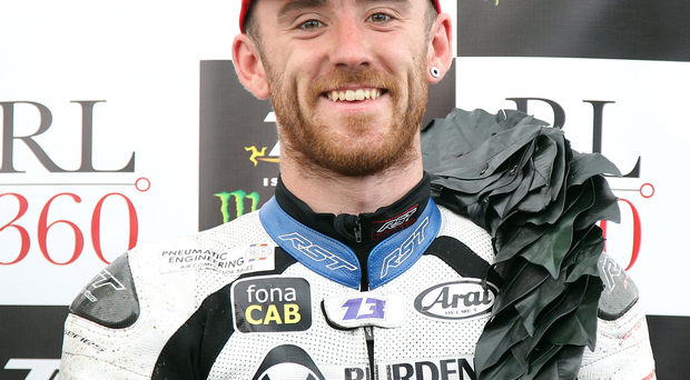 Wanted man: Lee Johnston's displays at the Isle of Man TT have raised the Fermanagh man's profile