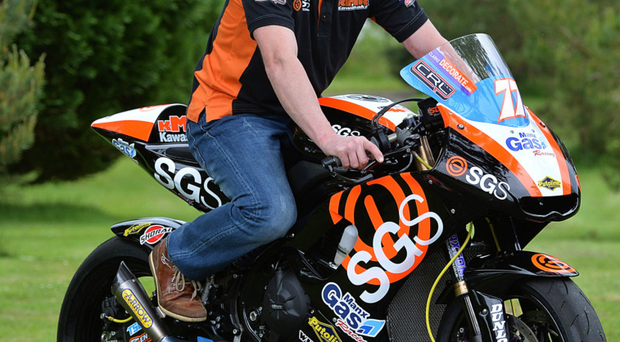 Scenic route: Ryan Farquhar launches the SGS International Race of Legends at Lissanoure Castle, Co Antrim PACEMAKER