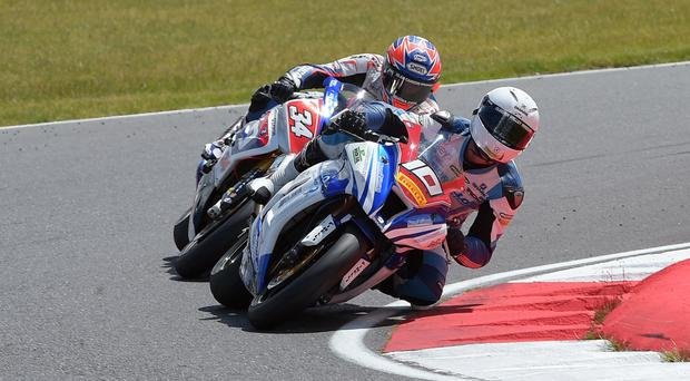 Turning the corner: Josh Elliott leads the Pirelli National Superstock 1000cc Championship