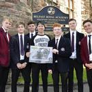 Andy Reid attended his old school,Belfast Royal Academy, to chat with pupils and teachers on Tuesday
