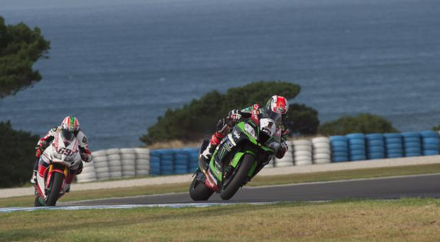 Wizard of Aus: Jonathan Rea in practice at Phillip Island in Australia earlier this week