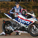 Hot wheels: Michael Laverty shows off his 2016 Tyco S1000RR BMW at Cartagena as he gears up for the BSB campaign