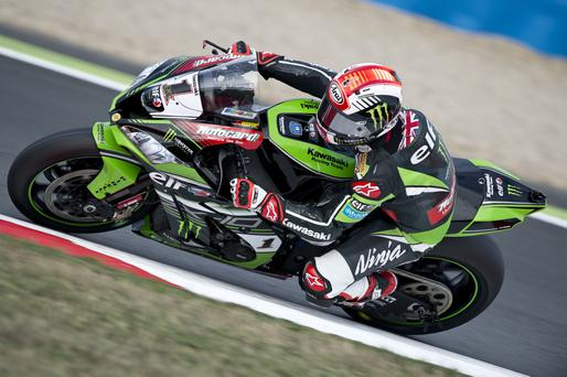 Right track: Jonathan Rea's top form has taken him within range of a second successive world title