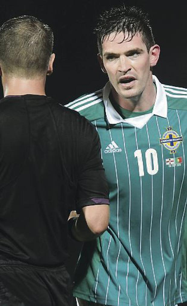 Kyle Lafferty saw red against Portugal