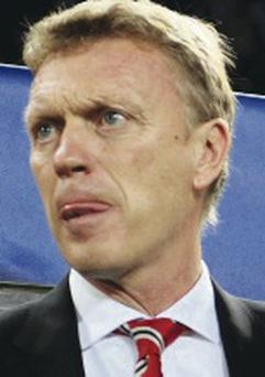 David Moyes manager of Manchester United