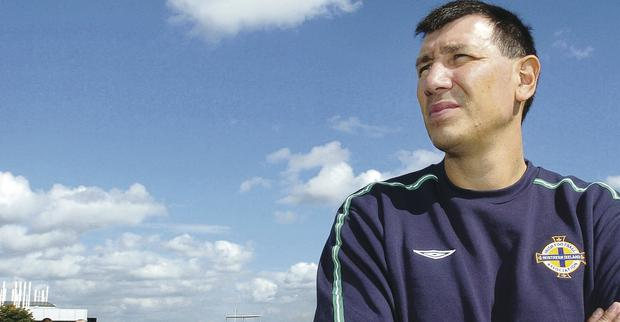 Golden memories: Lawrie Sanchez led Northern Ireland to several victories during his reign as manager