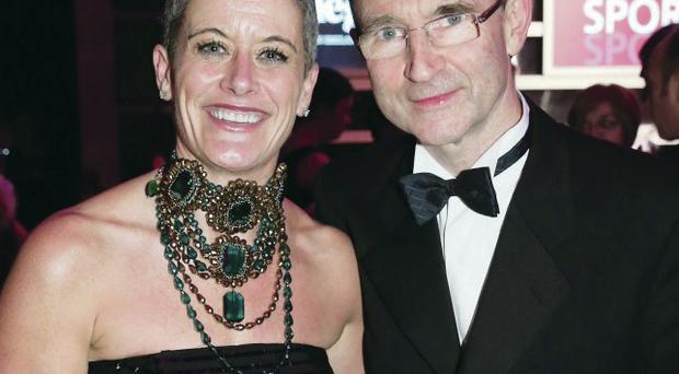 Martin O'Neill and Hanna Shields, who both hail from Kilrea, met up at the Belfast Telegraph Sports Awards