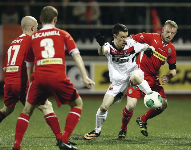 Solitude was full to see Cliftonville take on Crusaders in the League Cup final