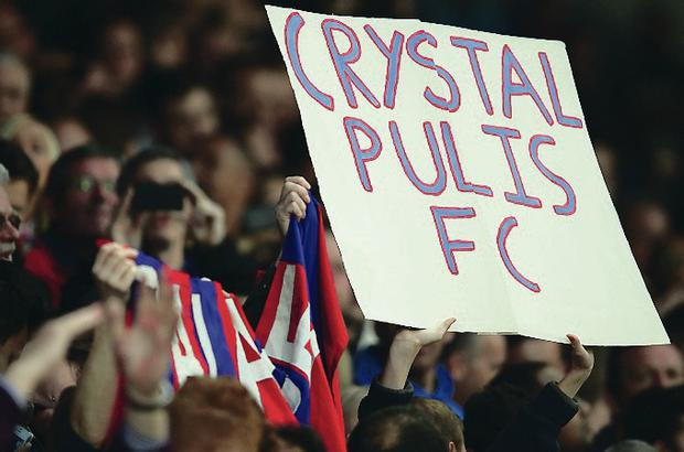 Crystal Palace fans support their side