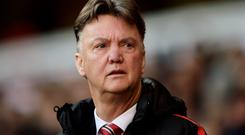 Good fortune: Manchester United's Louis van Gaal has ridden his luck