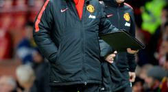 Cup woe: Manchester United boss Louis van Gaal was unable to inspire his side to victory against Arsenal last night
