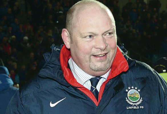 David Jeffrey won his 31st trophy as Linfield manager in the Co Antrim Shield final