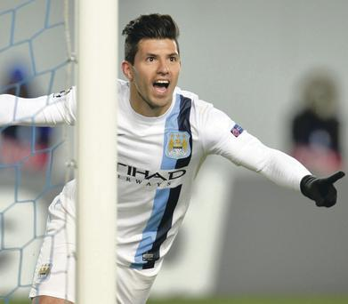 In-form: Sergio Aguero leads the Premier League scoring charts