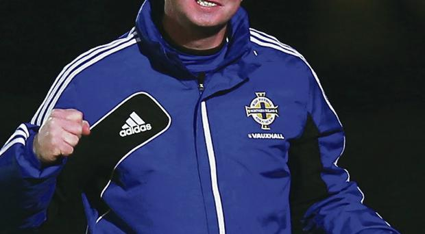 Go for it: Michael O'Neill has a chance of steering Northern Ireland into the Euro 2016 play-offs