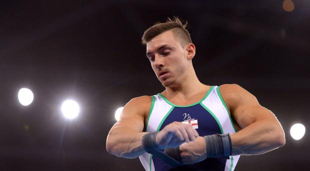 Costly wobble: Luke Carson lost his composure on the pommel horse