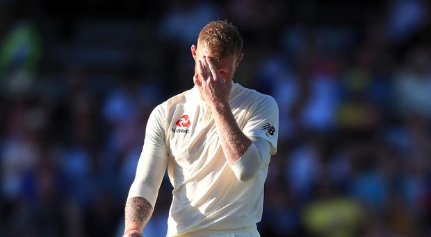 England's Ben Stokes appears dejected during day two of the third Ashes Test (Mike Egerton/PA)