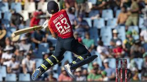 Buttler returned to form in an explosive innings in the final T20 against South Africa (AP Photo/Themba Hadebe)