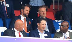 England football manager Gareth Southgate (top left) was in attendance at Lord's (Adam Davy/PA)