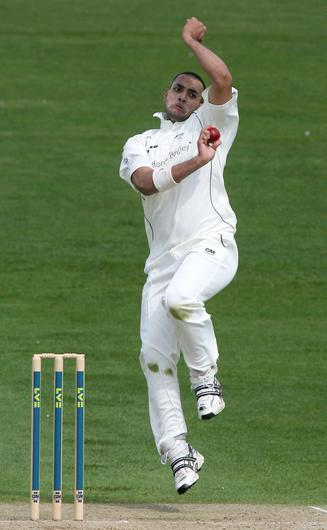 Ajmal Shahzad in action for Yorkshire (PA)