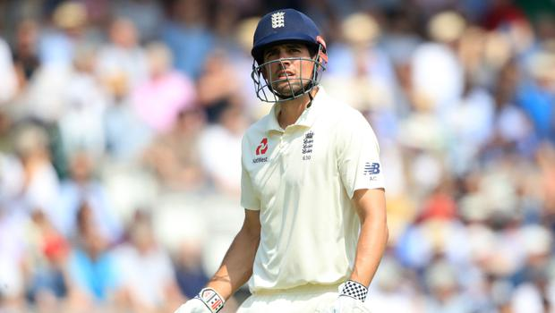 Alastair Cook suffered an early departure on Saturday