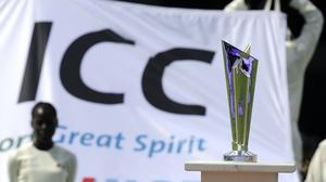 The ICC T20 World Cup trophy (PA)